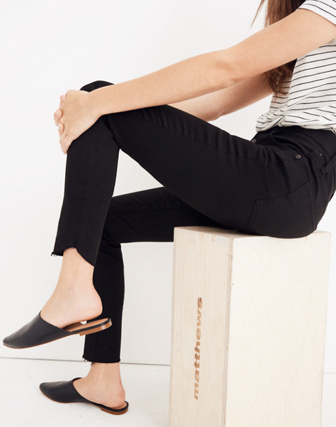 "10"" High-Rise Skinny Jeans: Tulip-Hem Edition in black frost image 2"