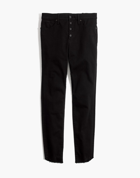 "10"" High-Rise Skinny Jeans: Tulip-Hem Edition in black frost image 4"