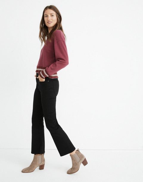 Petite Cali Demi-Boot Jeans in Black Frost: Tencel™ Edition in black frost image 2
