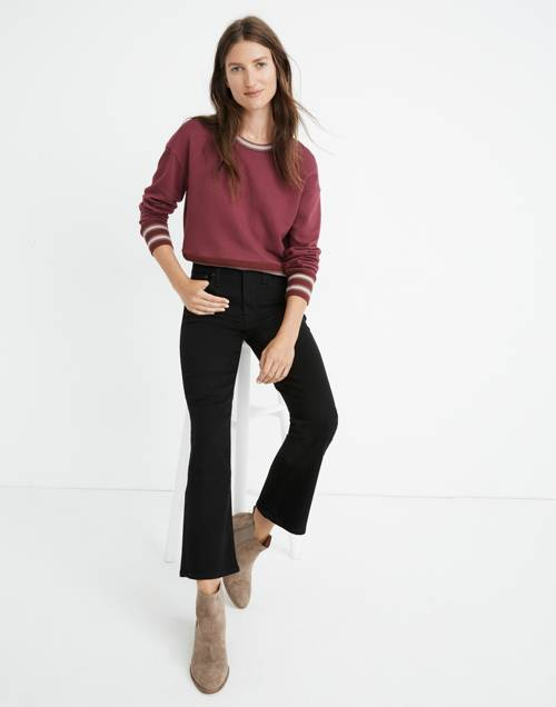 Cali Demi Boot Jeans In Black Frost: Tencel™ Edition by Madewell