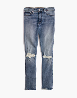 Skinny Jeans in Vintage Light with Rips in vintage light image 4