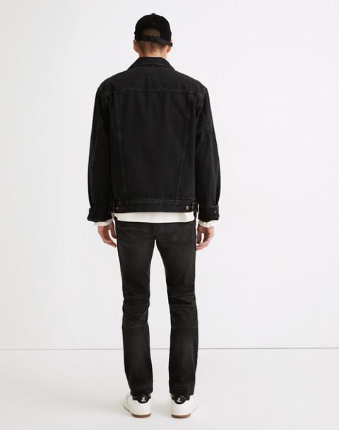 Slim Jeans in Washed Black in everton image 3