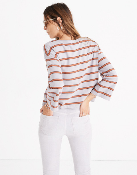 Striped Boatneck Tee in violet tint image 2
