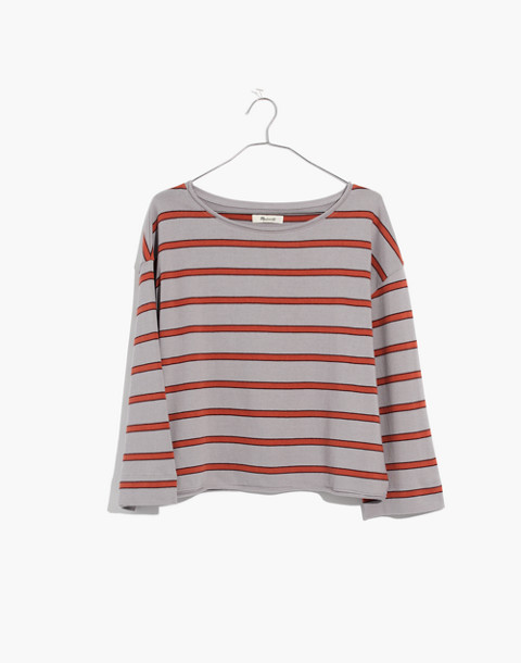 Striped Boatneck Tee in violet tint image 4
