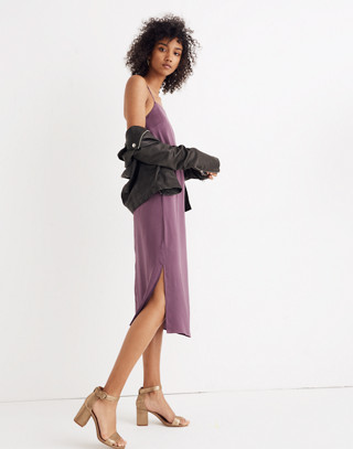 Apron Slip Dress in faded eggplant image 2