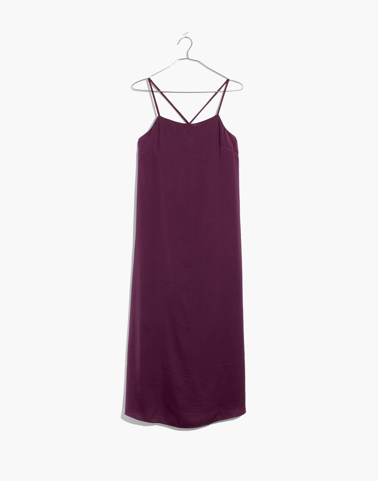 Apron Slip Dress in faded eggplant image 4