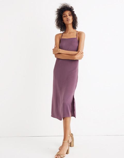 Apron Slip Dress in faded eggplant image 1
