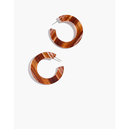 Striped Resin Hoop Earrings by Madewell