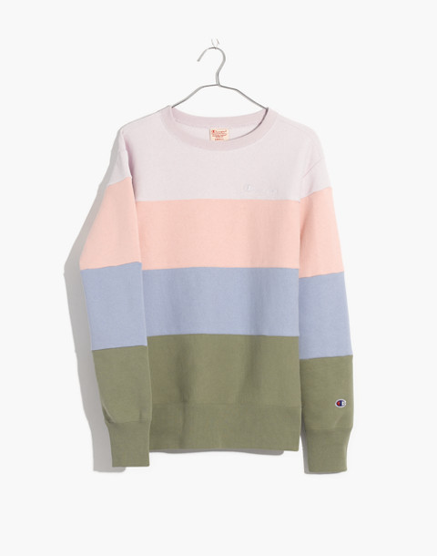 Champion® Colorblock Crewneck Sweatshirt in colorblocked champion image 4