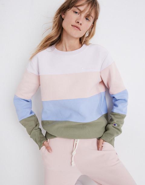 Champion® Colorblock Crewneck Sweatshirt in colorblocked champion image 1