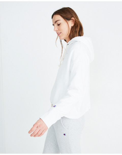 Champion® Maxi Hoodie Sweatshirt in white champion image 2