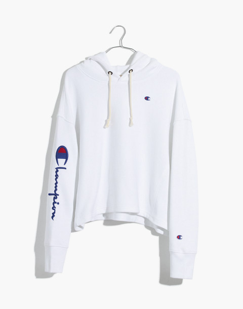 Champion® Maxi Hoodie Sweatshirt in white champion image 4