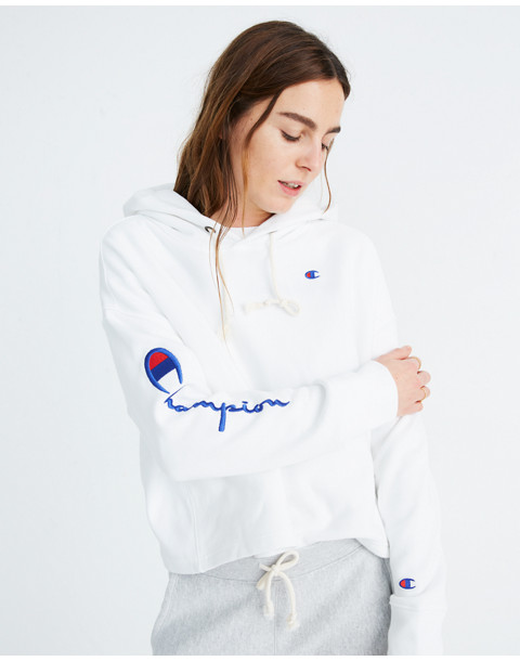Champion® Maxi Hoodie Sweatshirt in white champion image 1