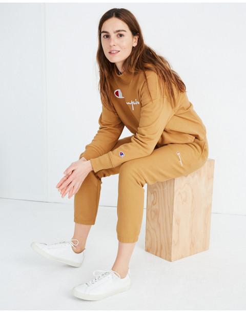 Champion® Elastic Cuff Sweatpants in brown champion image 2