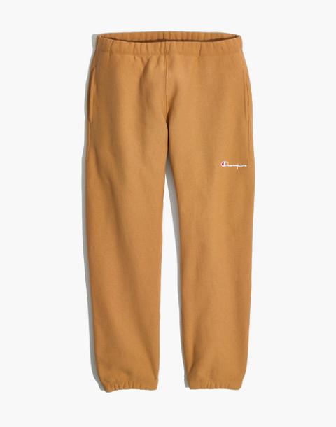 Champion® Elastic Cuff Sweatpants in brown champion image 4
