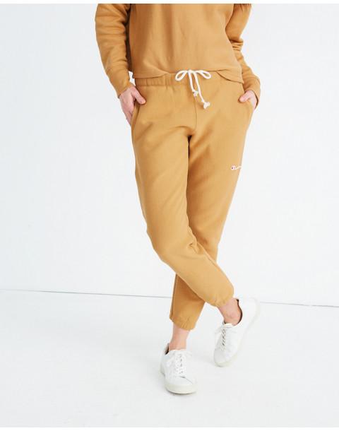 Champion® Elastic Cuff Sweatpants in brown champion image 1