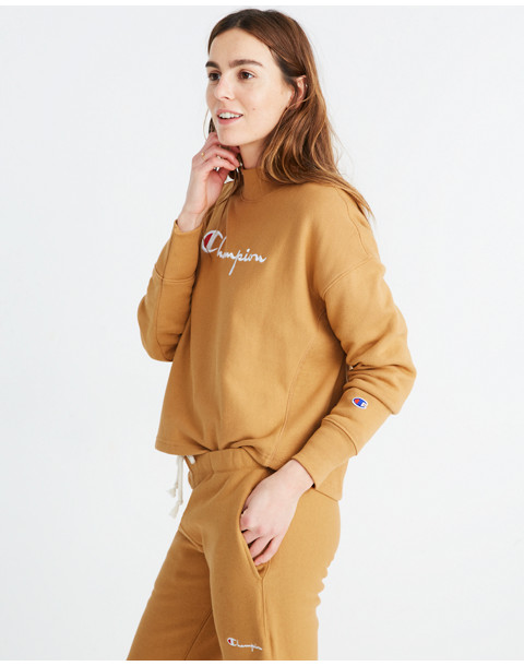 Champion® High-Neck Sweatshirt in brown champion image 2