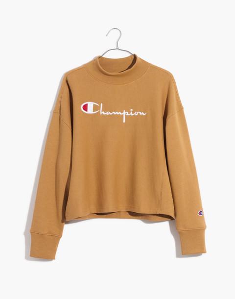 Champion® High-Neck Sweatshirt in brown champion image 4