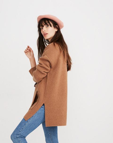 Spencer Sweater-Coat in hthr caramel image 2