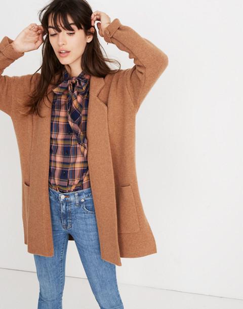 Spencer Sweater-Coat in hthr caramel image 3