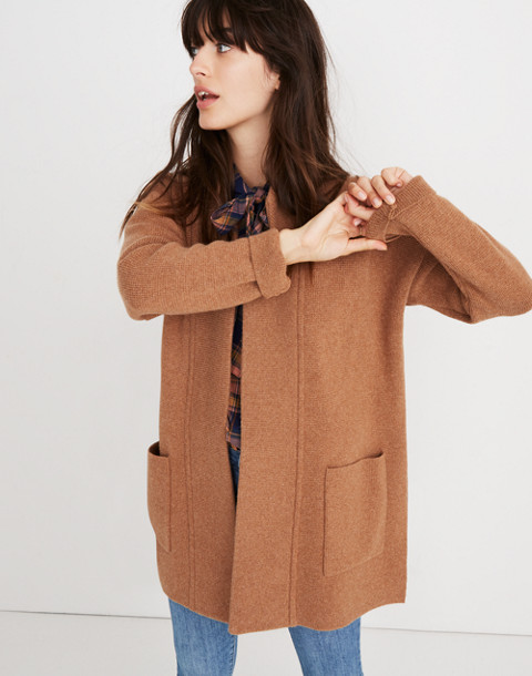Spencer Sweater-Coat in hthr caramel image 1