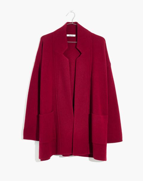 Spencer Sweater-Coat in hthr burgundy image 1