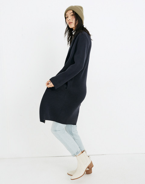 Double-Breasted Sweater-Coat in nautical black image 2