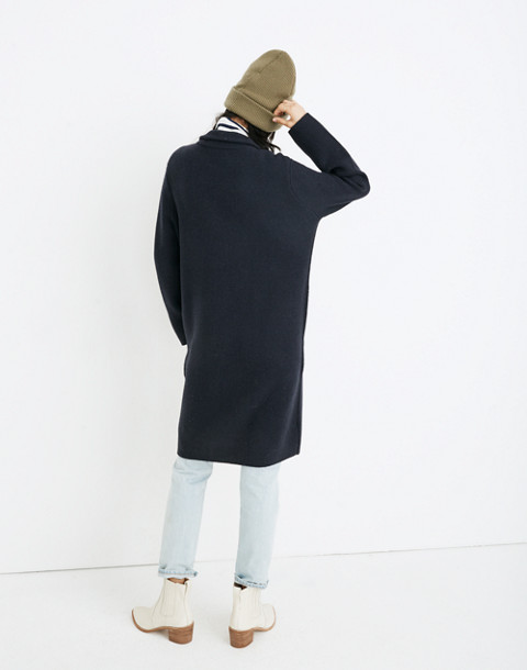 Double-Breasted Sweater-Coat in nautical black image 3