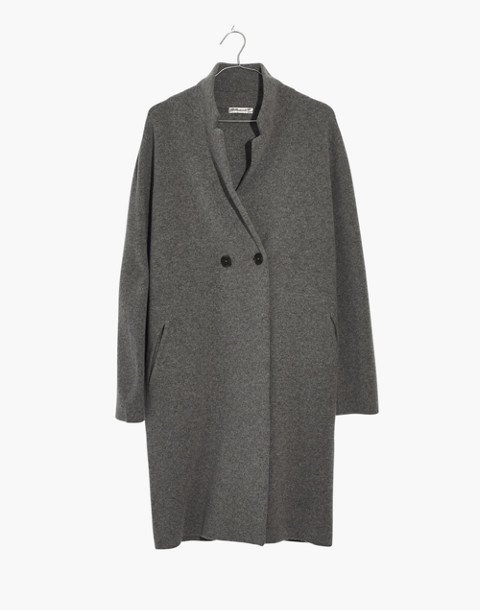 Double-Breasted Sweater-Coat in hthr grey image 1
