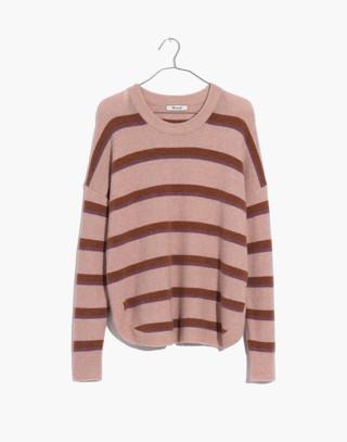 Westlake Striped Pullover Sweater in Coziest Yarn in heather beige image 4