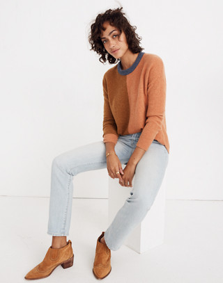 Westlake Colorblock Pullover Sweater in Coziest Yarn in hather harvest image 3