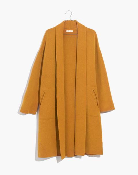 Rivington Sweater-Coat in ochre image 4