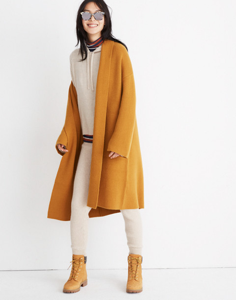 dcbc4ce5b44 Rivington Sweater-Coat in ochre image 1
