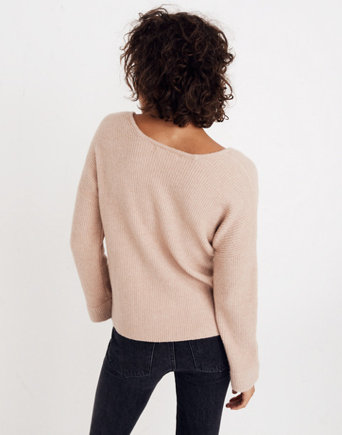 Square-Neck Pullover Sweater in Coziest Yarn in hthr beige image 3