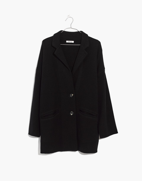Blazer Sweater-Jacket in true black image 1