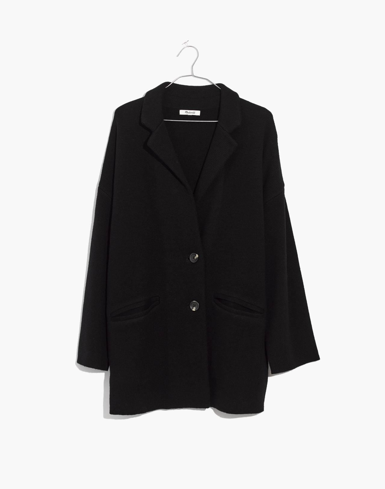 Blazer Sweater-Jacket in true black image 1