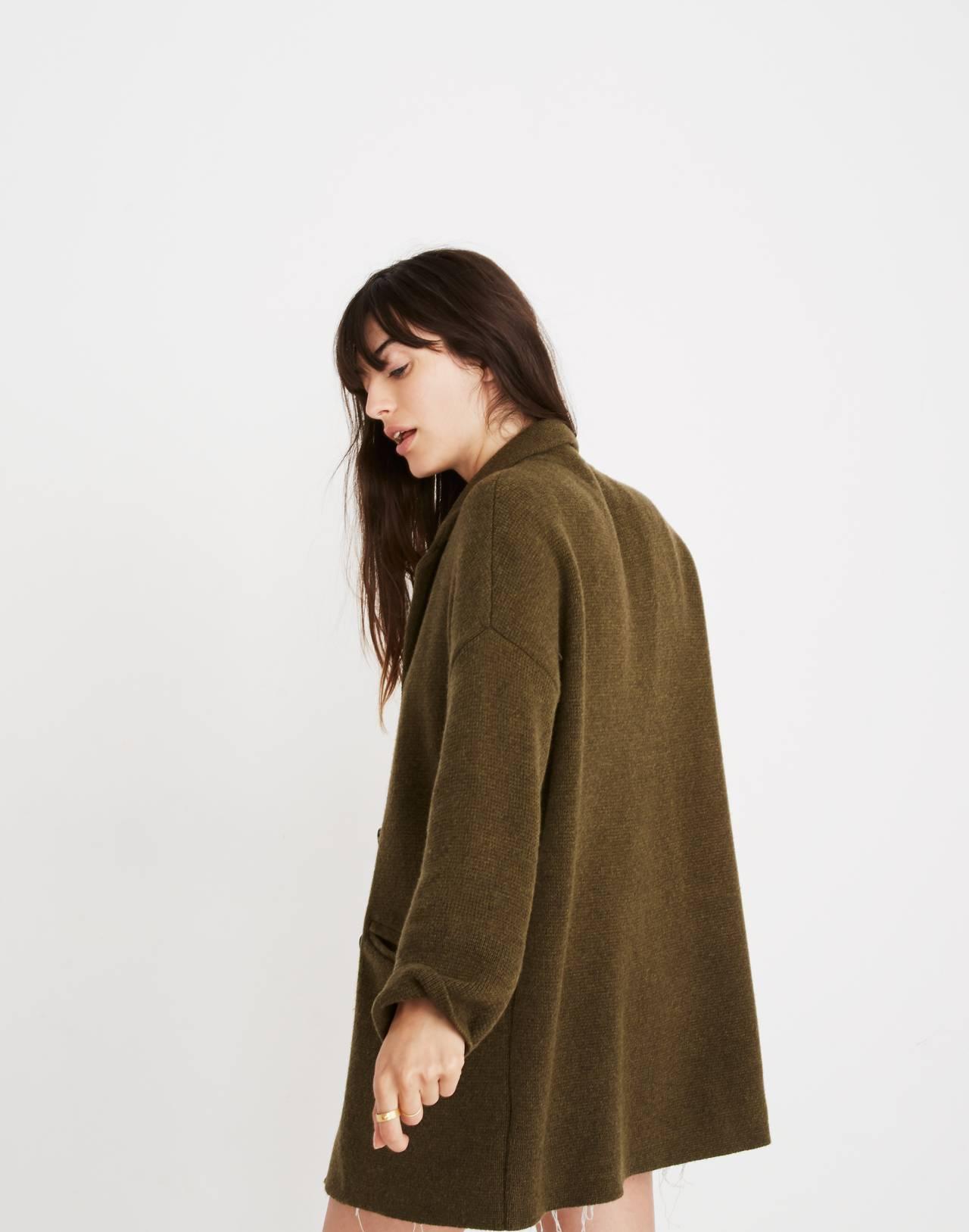Blazer Sweater-Jacket in hthr elm image 3