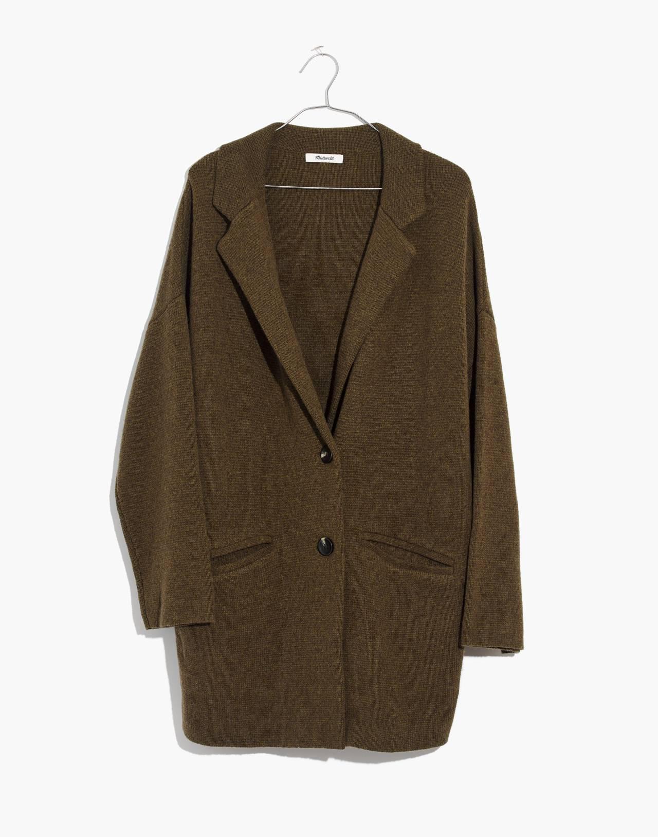 Blazer Sweater-Jacket in hthr elm image 4
