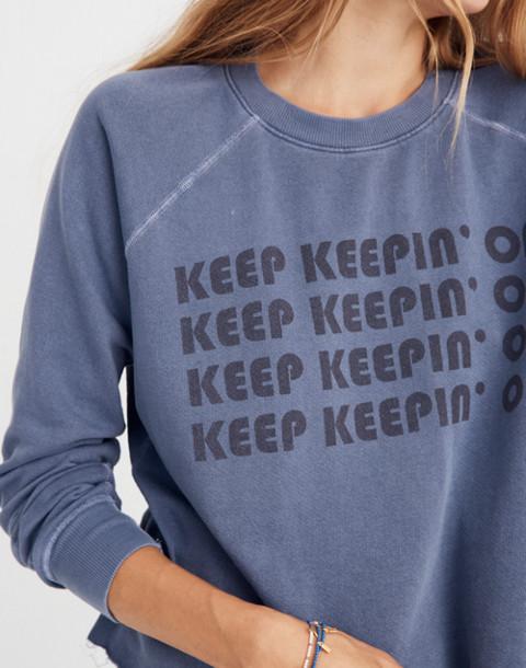 Rivet & Thread Keep Keepin' On Swing Sweatshirt in nightfall image 3