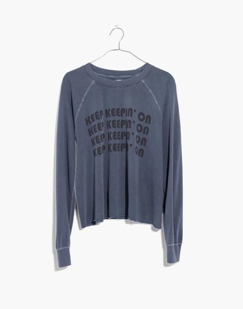 Rivet & Thread Keep Keepin' On Swing Sweatshirt in nightfall image 4