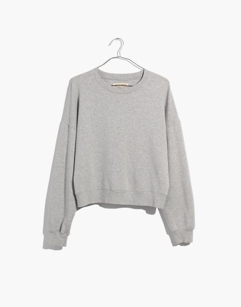 Rivet & Thread Crop Sweatshirt in hthr smoke image 4