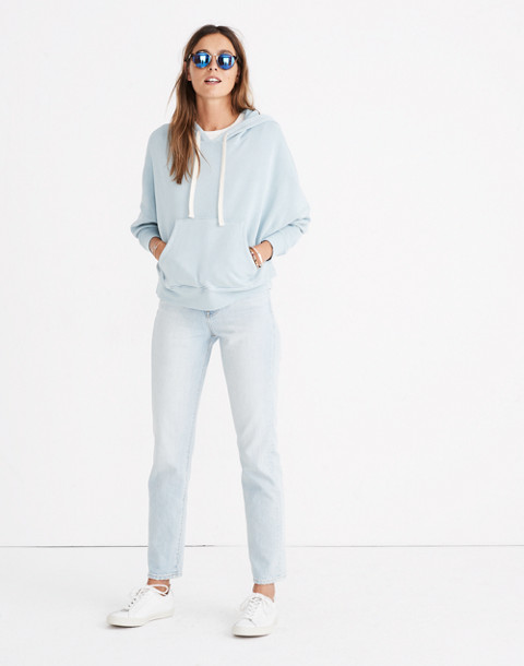 Rivet & Thread Drop-Shoulder Hoodie Sweatshirt in antique blue image 2