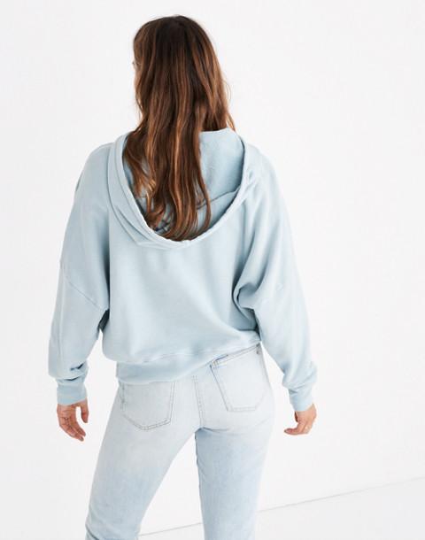 Rivet & Thread Drop-Shoulder Hoodie Sweatshirt in antique blue image 3