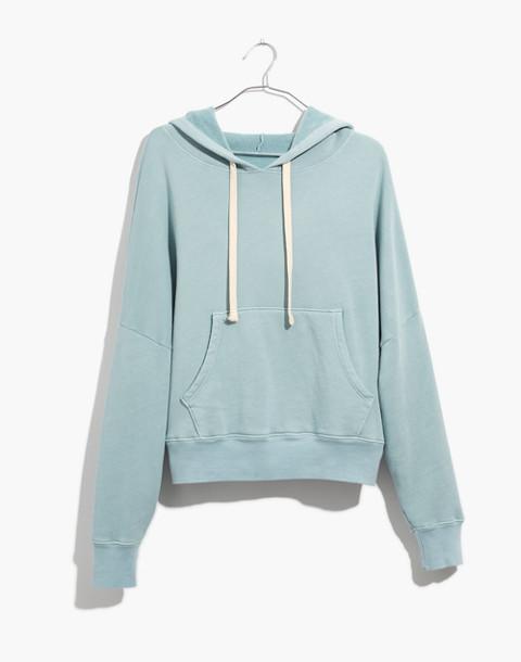 Rivet & Thread Drop-Shoulder Hoodie Sweatshirt in antique blue image 4