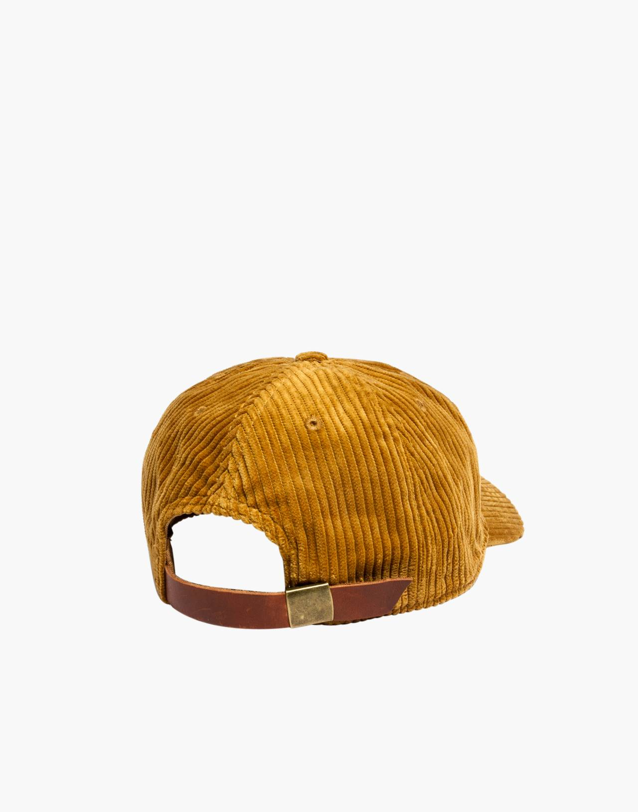 Corduroy Baseball Cap in egyptian gold image 2