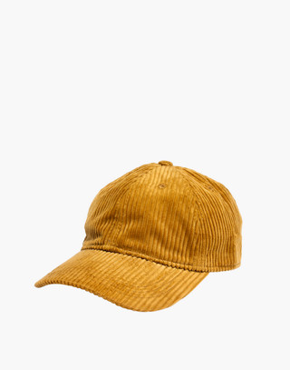 Corduroy Baseball Cap in egyptian gold image 1
