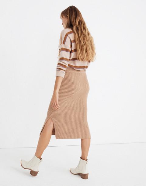 Patch Pocket Sweater Skirt in hthr saddle image 2