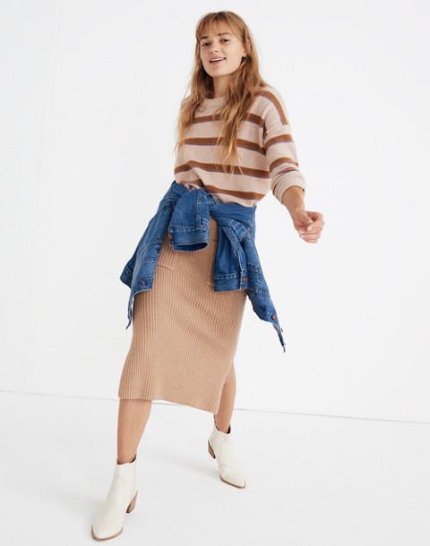 Patch Pocket Sweater Skirt in hthr saddle image 3