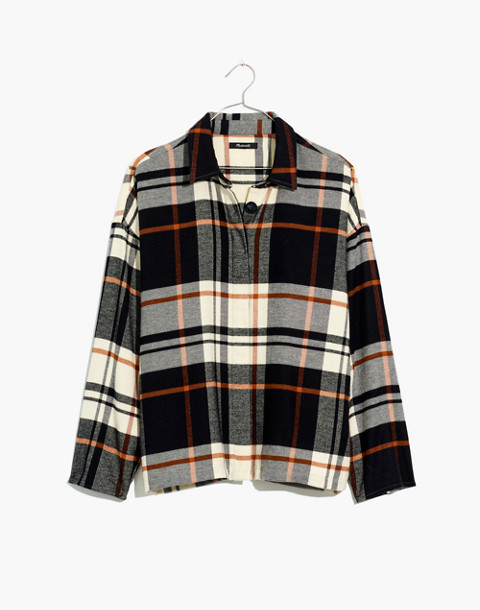 Flannel Bromley Shirt in classic black image 4