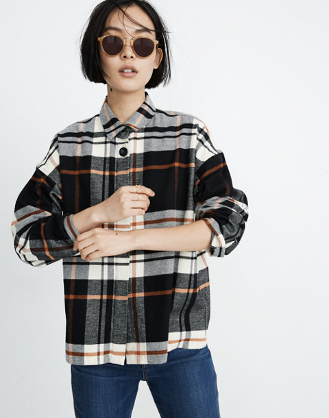 Flannel Bromley Shirt in classic black image 1